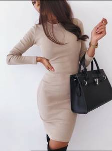 Платье короткое с длинным рукавом А10517