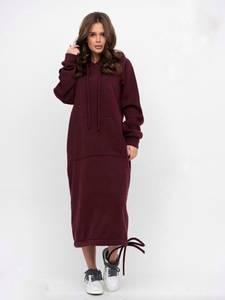 Платье длинное однотонное А18248