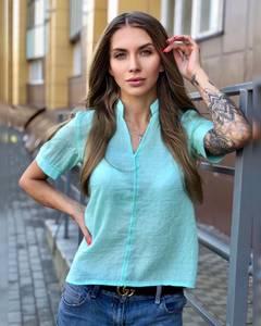 Блуза голубая Ч8648