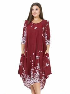 Платье короткое с принтом А09017