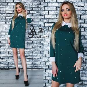 Платье короткое нарядное элегантное У1183