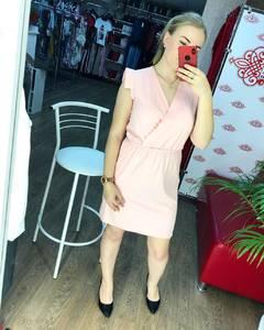 Платье короткое однотонное Ч7791