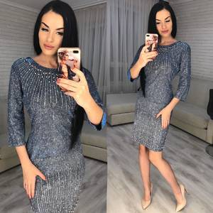 Платье короткое нарядное Ю2995