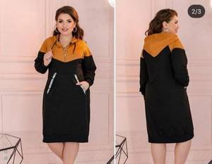 Платье короткое с длинным рукавом А03761