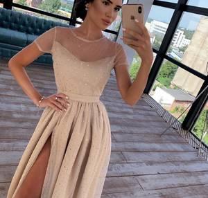 Платье длинное нарядное А09343