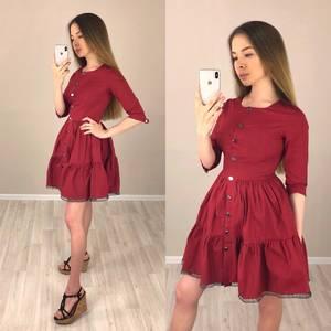 Платье короткое коктейльное однотонное Т4186