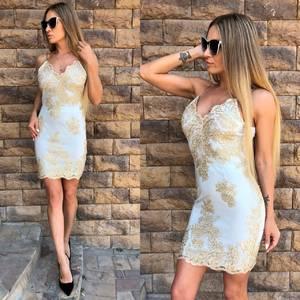 Платье короткое нарядное облегающее Т4286