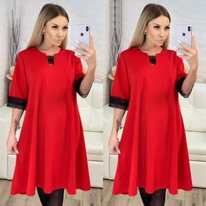 Платье короткое однотонное Ш0936