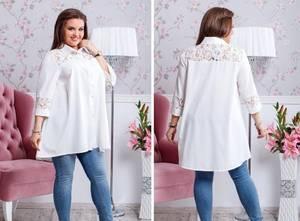 Рубашка удлиненная Ш0943