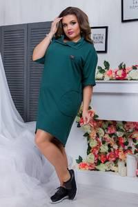 Платье короткое однотонное А20868