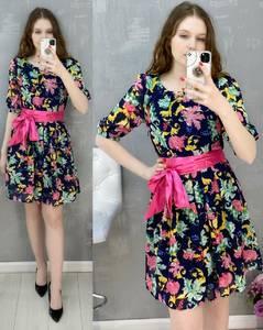 Платье короткое повседневное А30579
