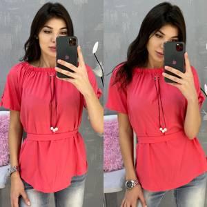 Блузка с коротким рукавом А30795