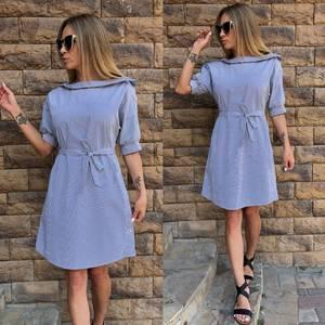Платье короткое с рукавом 3/4 летнее Т4202