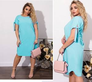 Платье короткое однотонное А08670