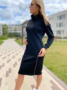 Платье короткое с длинным рукавом А10381