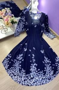 Платье короткое с принтом А09020