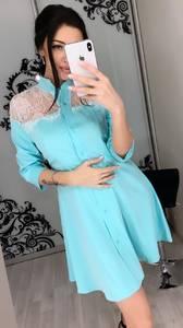 Платье короткое с рукавом 3/4 Ц3395