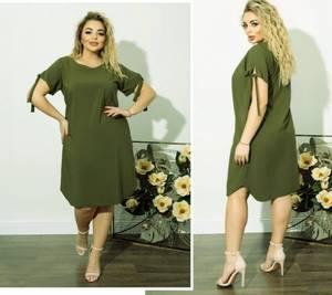 Платье короткое однотонное А08673