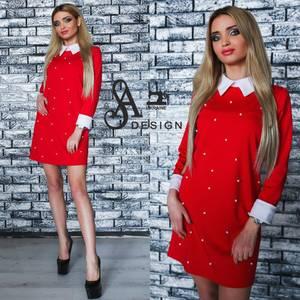 Платье короткое нарядное элегантное У1184