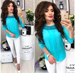 Блуза с кружевом Ц3328
