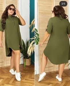 Платье короткое однотонное А06845