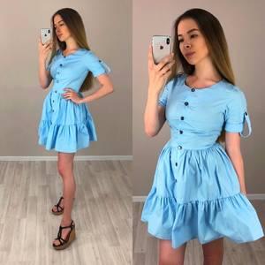 Платье короткое коктейльное однотонное Т4187