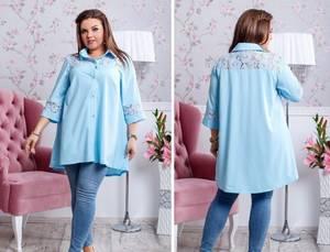Рубашка удлиненная Ш0944