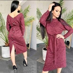 Платье короткое с длинным рукавом А10548