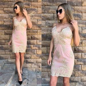 Платье короткое нарядное облегающее Т4287