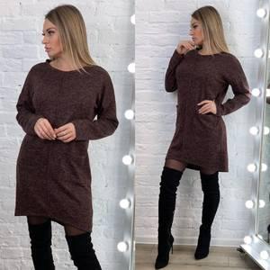 Платье короткое однотонное А18399