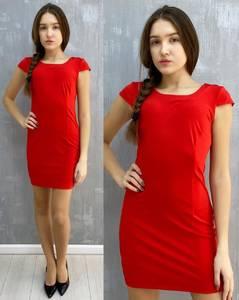 Платье короткое без рукавов А30100