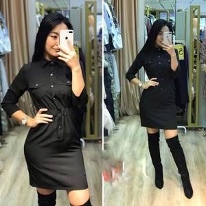 Платье короткое однотонное А11371