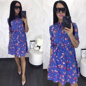 Платье короткое с принтом Ц3406