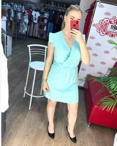Платье короткое однотонное Ч7789