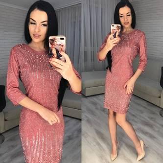 Платье короткое нарядное Ю2997