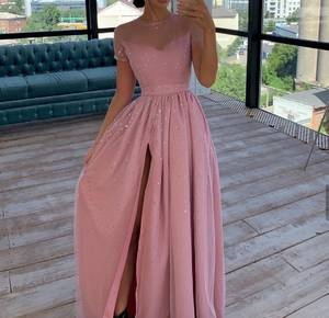 Платье длинное нарядное А09345