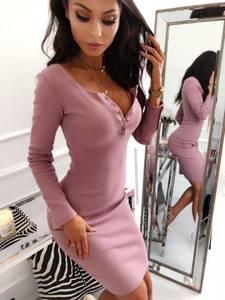 Платье короткое с длинным рукавом А10523