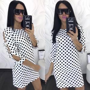 Платье короткое нарядное с принтом Х7122