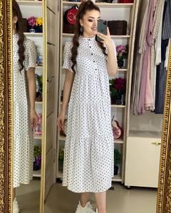 Платье длинное летнее А02645