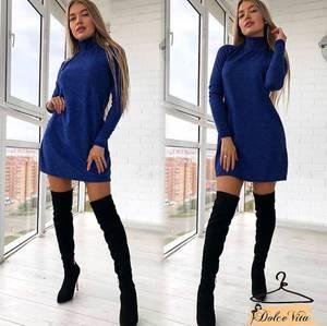 Платье короткое с длинным рукавом А10932