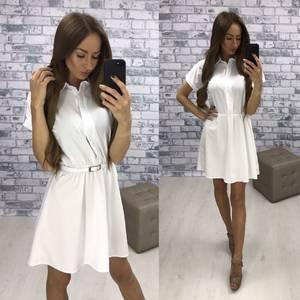 Платье короткое современное белое Т4861