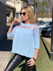 Блуза с кружевом Ц4629