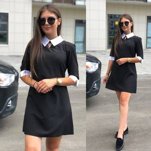 Платье короткое классическое Ч5625