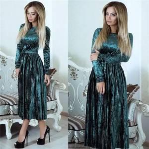 Платье длинное однотонное А06886