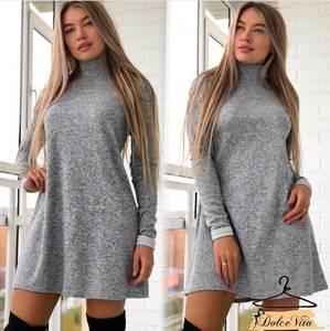 Платье короткое с длинным рукавом А10933