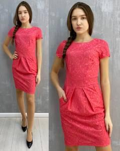 Платье короткое без рукавов А30103