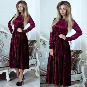 Платье длинное однотонное А06888