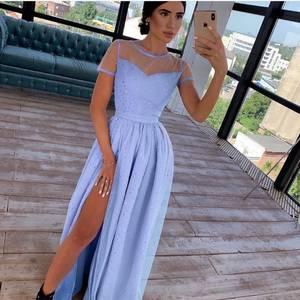 Платье длинное нарядное А09348