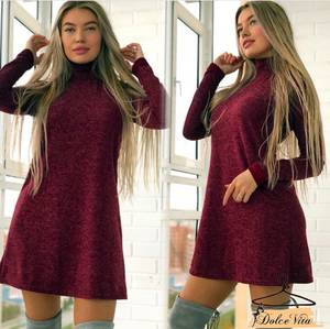 Платье короткое с длинным рукавом А10934