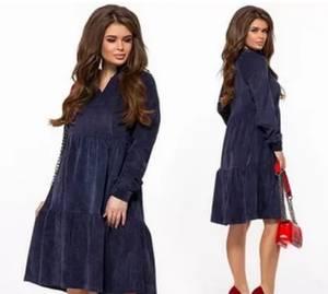 Платье короткое с длинным рукавом А16936